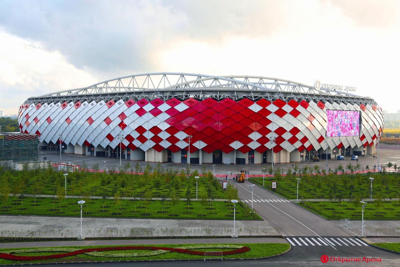 Схема открытие арена спартак москва