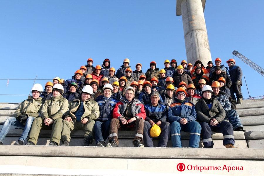 Монолитные работы на стадионе «Спартака» завершены